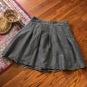 The limited black and white stripe skater skirt